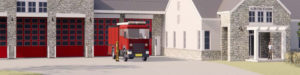 Rendering of Aldie Fire Station Preliminary design
