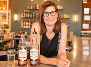 Becky Harris is co-founder and chief distiller of Catoctin Creek Distilling Company, winner of the people's choice award for Loudoun Small Business awards