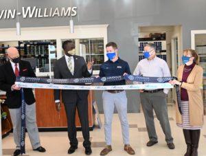 Ribbon cutting at the new Sherwin-Williams in Purcellville