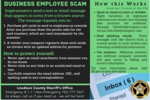 Business Employee Scam