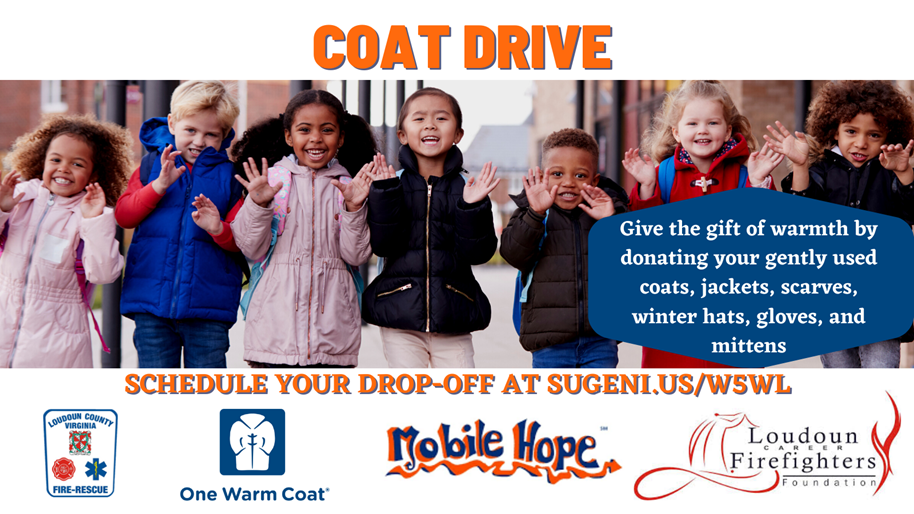 Coat Drive Flyer- Give the gift of warmth by donating your gently used coats, jackets, scarves, winter hats, gloves and mittens