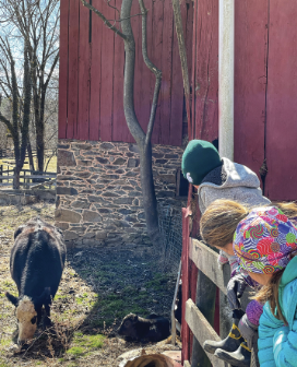 O'Rourke kids visiting Puddles