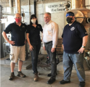 Sen. Kaine visits Catoctin Creek Distillers